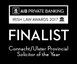 "Jason O' Sullivan Finalist in ""Connacht/Ulster Provincial Solicitor of the Year"" Law Awards 2017"